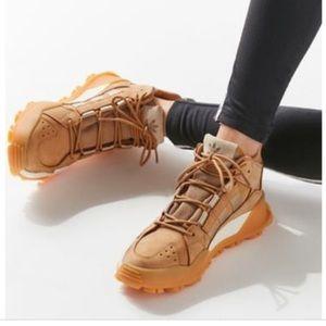 NWOT Adidas trail shoes white/camel